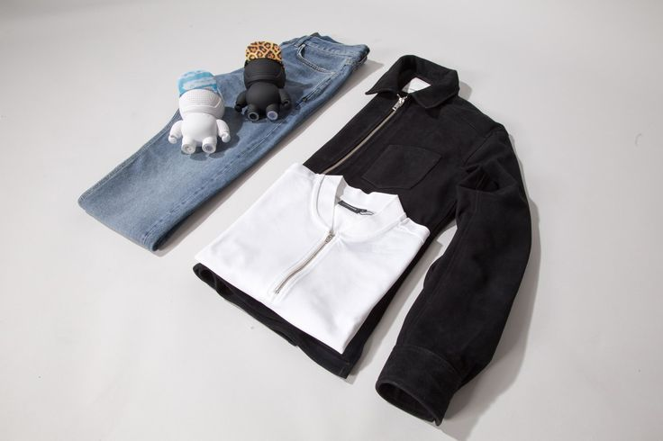 Jeans, pique and jacket from - J. Lindeberg