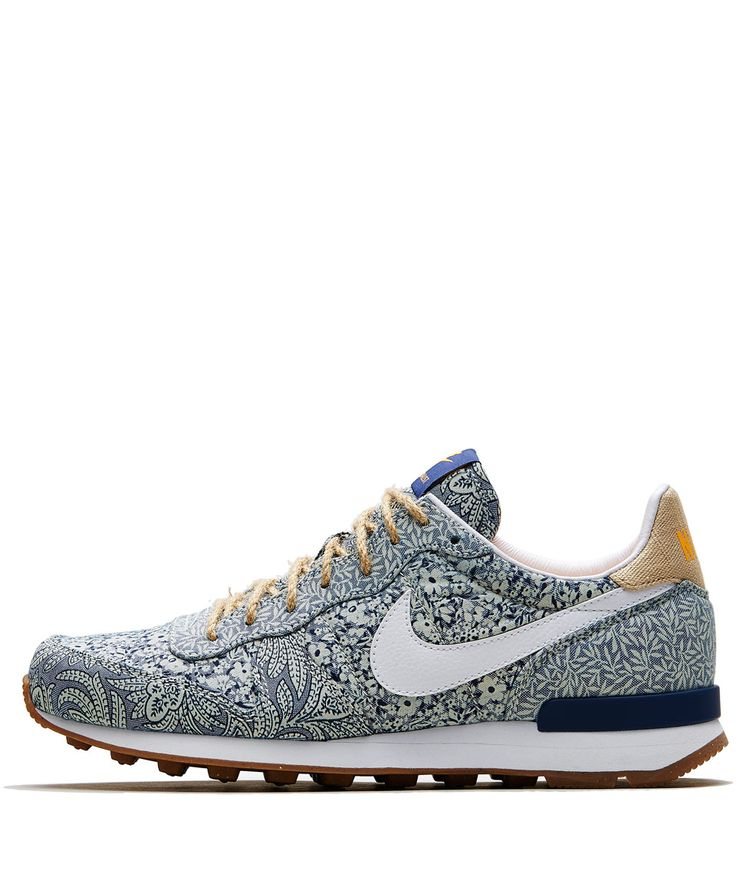 So PISSED I missed these!... Nike x Liberty Blue Internationalist Trainers   Shoes by Nike x Liberty   Liberty.co.uk