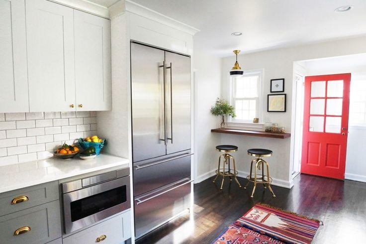kitchen with French door refrigerator