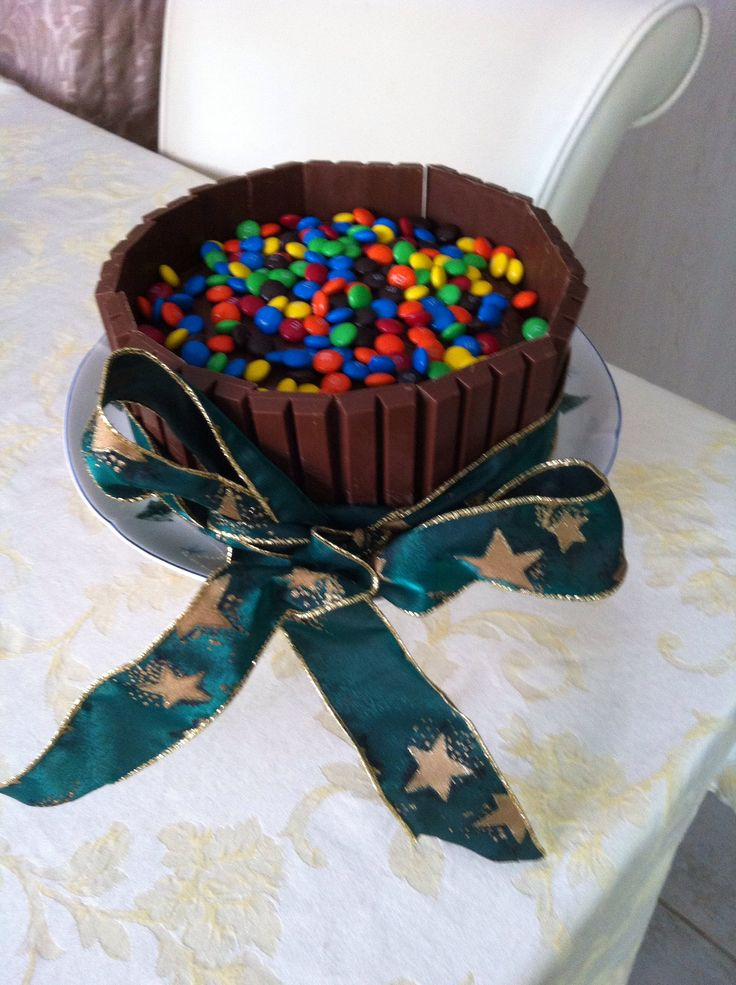 Kit Kat cake made it for a Christmas treat