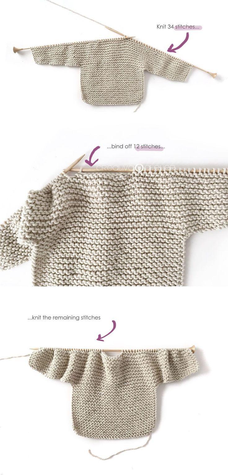 Gestrickter Kimono – NUR Baby Jacket Pattern & Tutorial   – Baby sweater patterns