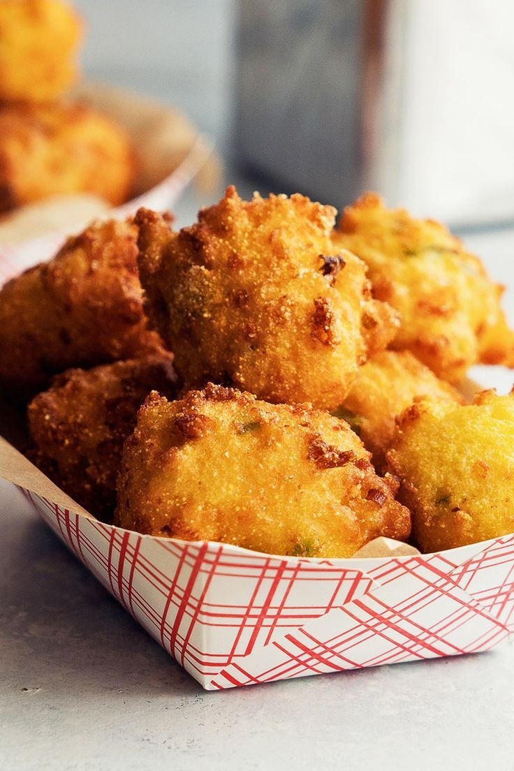 Fried Jalapeno Cheddar Hush Puppies Recipe With Cornmeal Flour