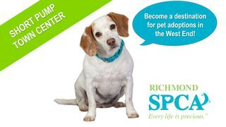 Sign our petition on Change.org to ask Short Pump Town Center to add a Richmond SPCA adoption center!