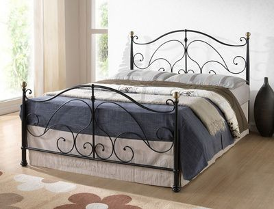Birlea Milano King Size Black Metal Bed Frame