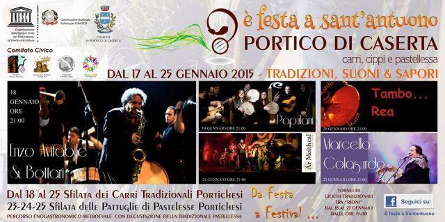Tamborea alla Festa di Sant'Antuono di Portico di Caserta - Dove Si Va Questa Sera? Eventi serali e non solo...