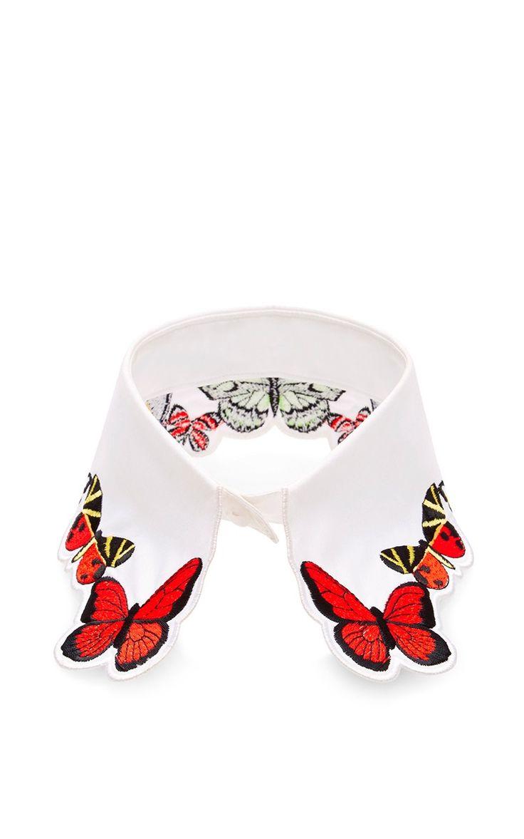Fauna Butterfly Embroidered Collar by Vivetta - Moda Operandi