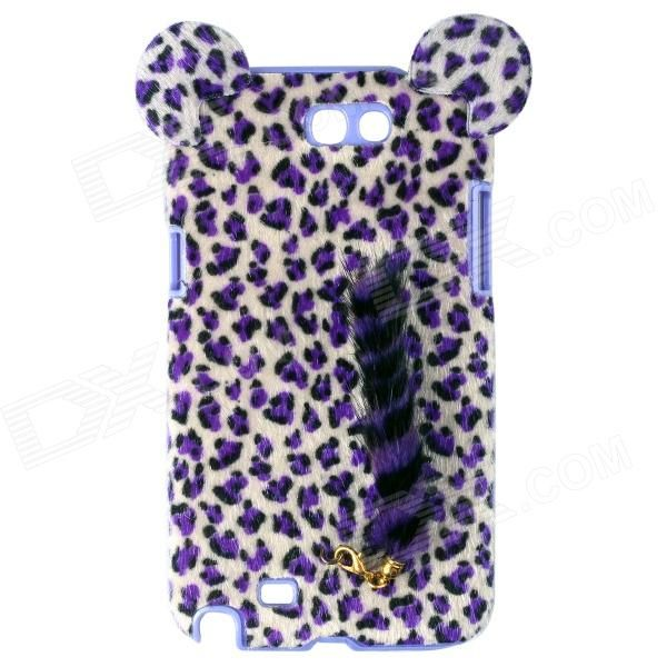 Cute leopard print pattern case with tail, protects your device from scratches, dust, shock and abrasion http://j.mp/VIJ8zf