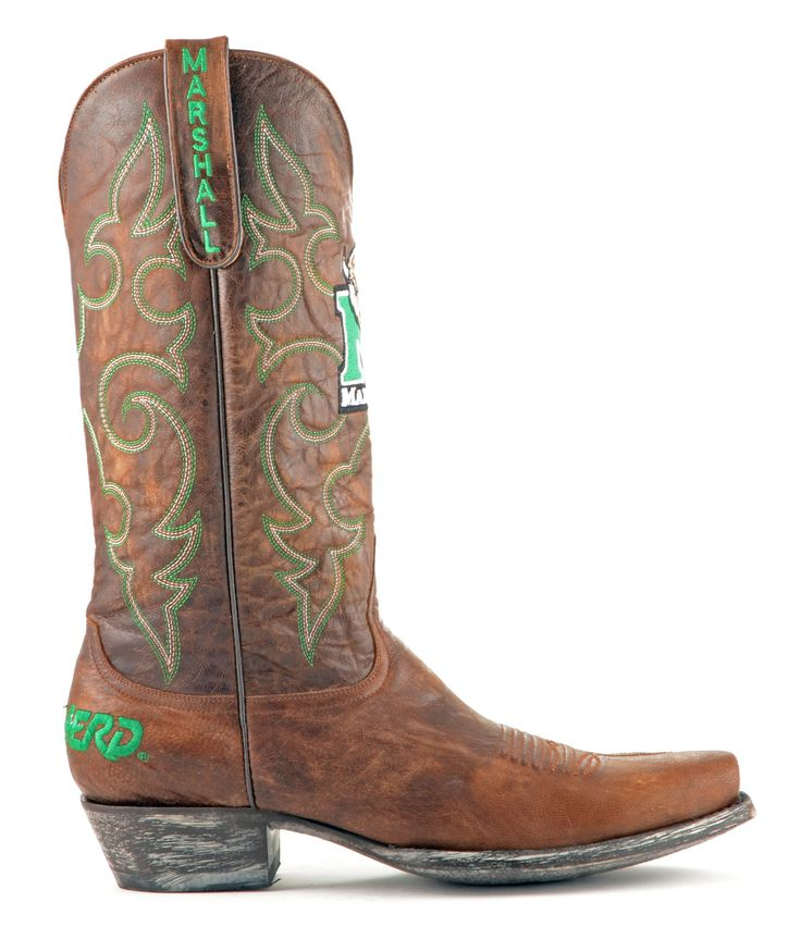 Mens Marshall University Boots #TheHerd #Marshall #CollegeColorsDay