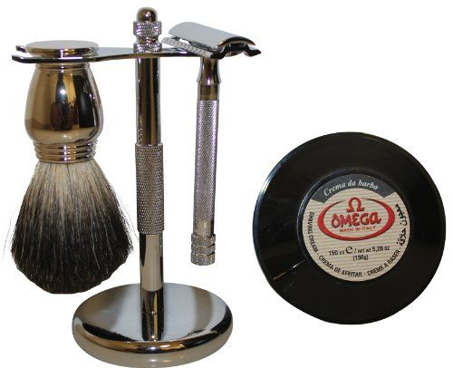 Simply Beautiful Shaving Gift Set with Merkur Razor, Stand, Brush, and Omega Soap at http://suliaszone.com/simply-beautiful-shaving-gift-set-with-merkur-razor-stand-brush-and-omega-soap-2/