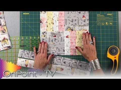 Onpoint Tv Ep 402 Jelly Rollrail Fence Scant 1 4 Inch Seam Hint Rail Fence Quilt Quilting Tutorials Quilt Block Patterns