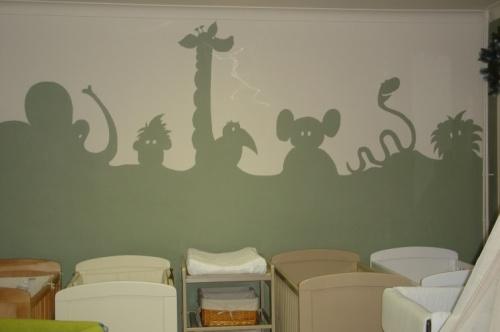 Junglehorizon. #muurschildering #decoratie #Decodomus