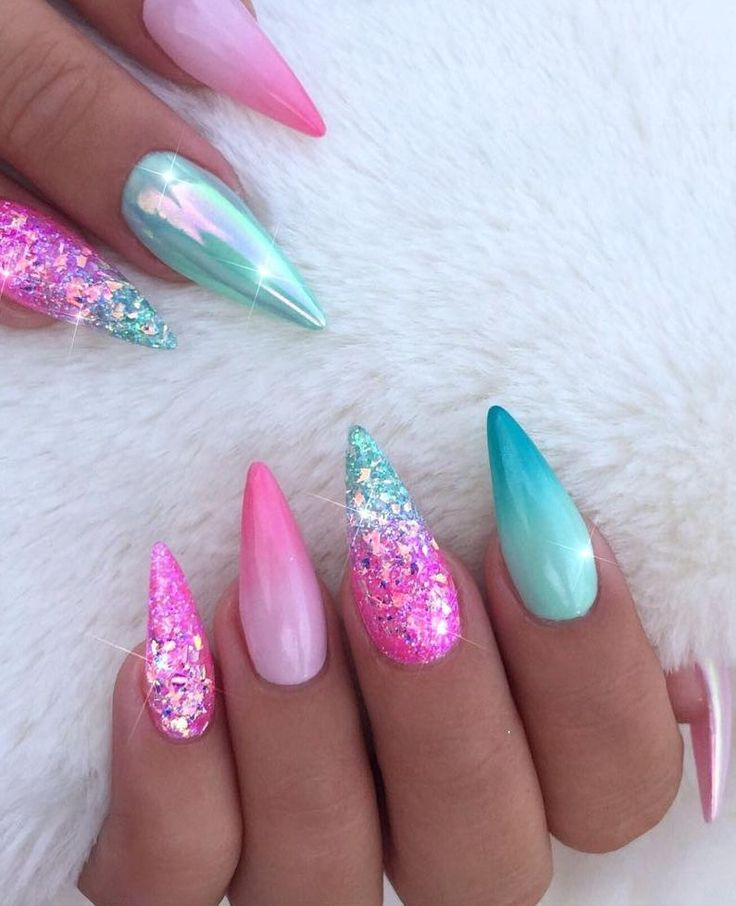 100+ Nails Art Ideas // Chrome Nails // Fashion And Beauty Ideas