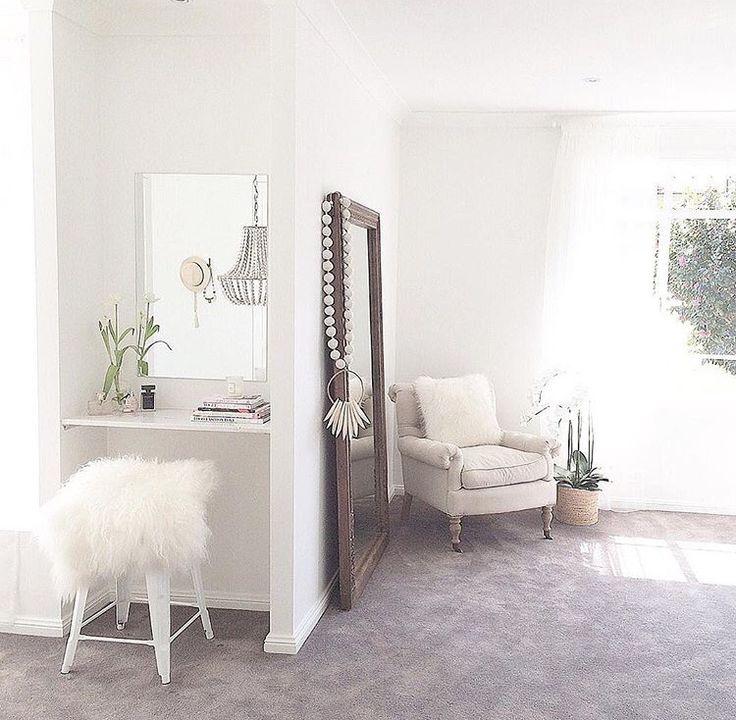 Three Birds Renovations - master bedroom with powder area