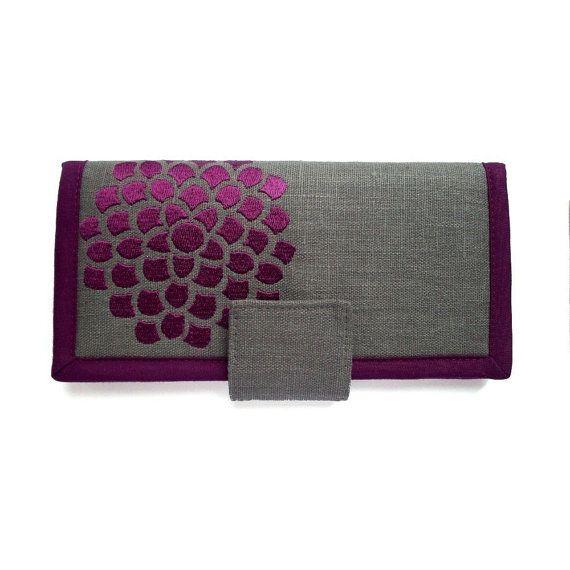 Handmade Womens Wallet Large wallet Modern wallet por Marillis