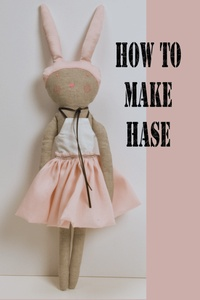 This is a pattern to make your own lovely Hase, or as a present.