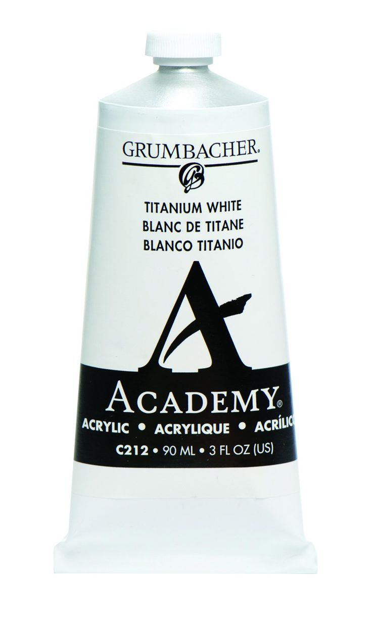 Grumbacher Academy Acrylic Paint, 90ml/3 oz Metal Tube, Titanium White - https://tryadultcoloringbooks.com/grumbacher-academy-acrylic-paint-90ml3-oz-metal-tube-titanium-white/ - #PaintBrushes