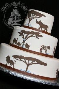 cool safari themed cake @denise Belardes