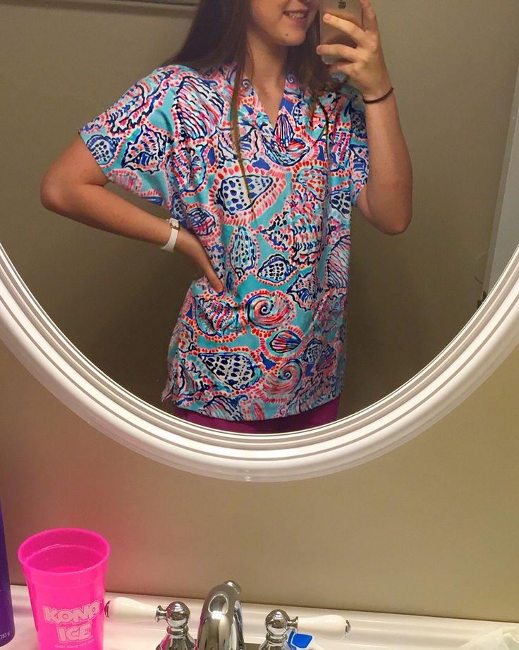 lily Pulitzer scrub top