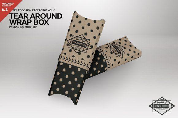 Tear Around Wrap Packaging Mockup Packaging Mockup Free Packaging Mockup Mockup Free Psd