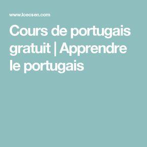 Cours de portugais gratuit | Apprendre le portugais