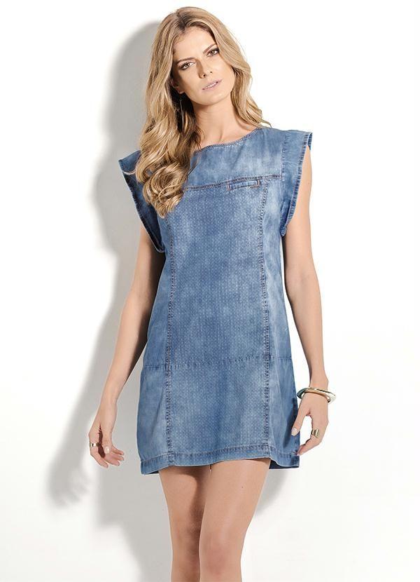Vestido Jeans Claro Colcci - Posthaus | MODA | Pinterest | Jeans claro Vestido jeans e Colcci