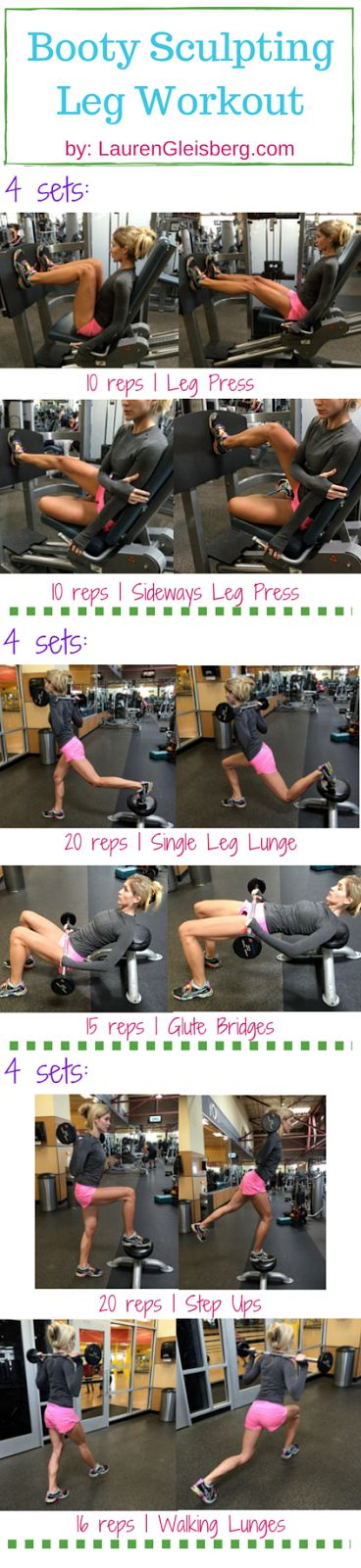 Day 24: Booty Sculpting Leg Workout | #LGKickStartFit Health & Fitness Challenge by LaurenGleisberg.com