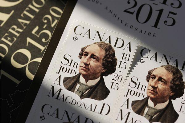 Canada Post / John A. Macdonald on Behance
