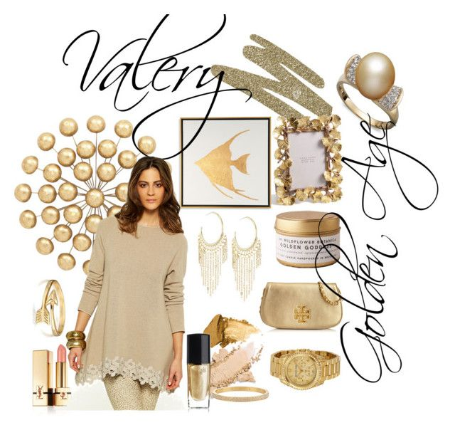 Valery and the golden age by stefania-desdemona-rubini on Polyvore featuring moda, Tory Burch, Michael Kors, Lydell NYC, Bling Jewelry, Henri Bendel, Yves Saint Laurent, Gorgeous Cosmetics, Lancôme and Universal Lighting and Decor