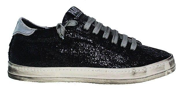 P448 Sneaker   A6 John - Crack black   schwarz