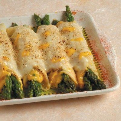 Crepes ripiene asparagi e salsa allo zafferano #zafferano