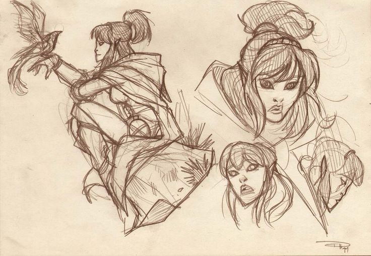 DRAGONERO - Myrva sketch 2011 by DenisM79.deviantart.com on @deviantART