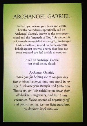 Prayer to Archangel Gabriel by Rebecca Rosen