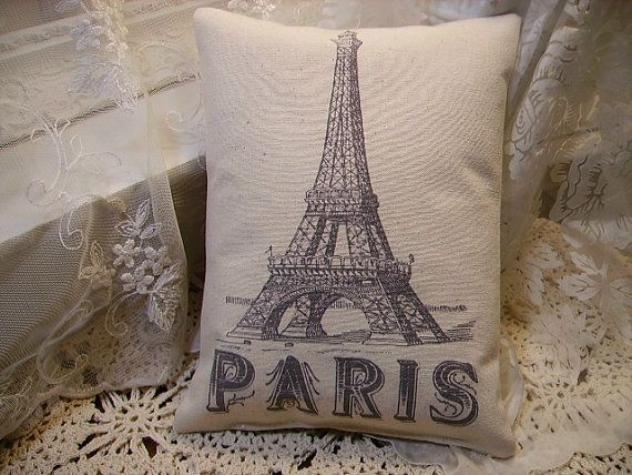 Shabby Paris Chic  Eiffel Tower  Canvas  by kristyschicboutique, $10.50