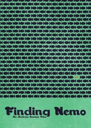 Finding Nemo Minimalist Movie Poster. Alla Ricerca di Nemo - Poster Minimalista.