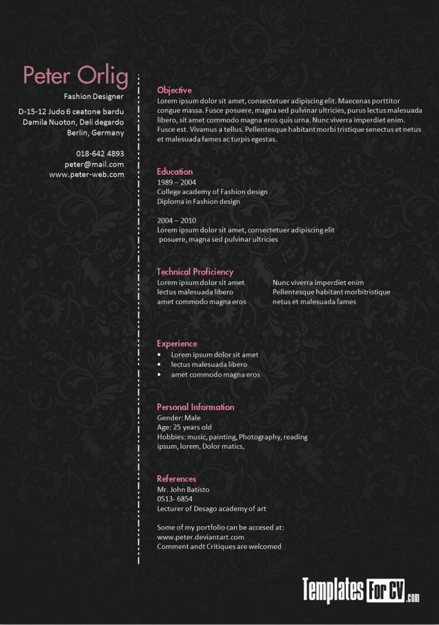 61 best Resumes \/ designs images on Pinterest Resume ideas - free resume critique