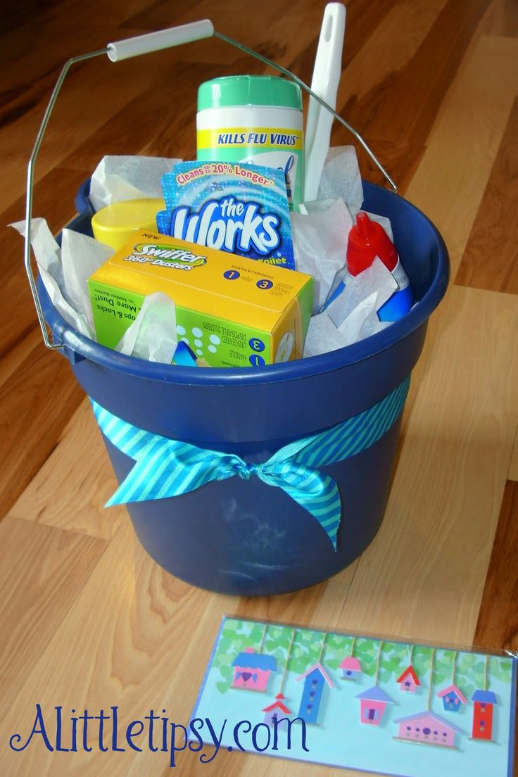 136 best bucket gift images on pinterest creative for Creative housewarming party ideas