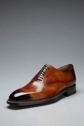 Scarpe Di Bianco Burnished Leather Perforated-Toe Oxfords