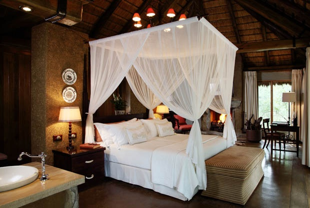Great African Bedroom - loved those mossie nets!