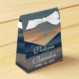 Beach Sunset Sands Surf Tropical Wedding Favor Box