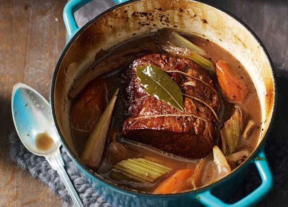 The perfect winter warmer, a delicious one-pot roasted beef joint with vegetables