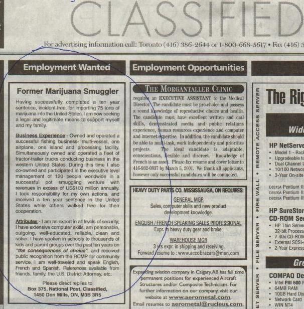 Best employment ad.