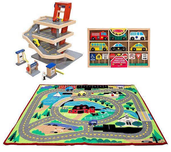 $121 | Vroom, vroom. Get your little one moving towards the next adventure with the Melissa & Doug Let's Play Vehicles Bundle. QVC.com