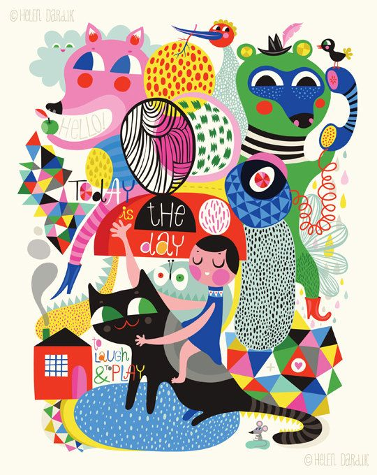 Today is the Day limited edition giclee print of por helendardik