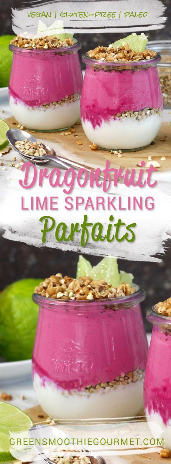 Dragonfruit Lime Sparkling Parfait