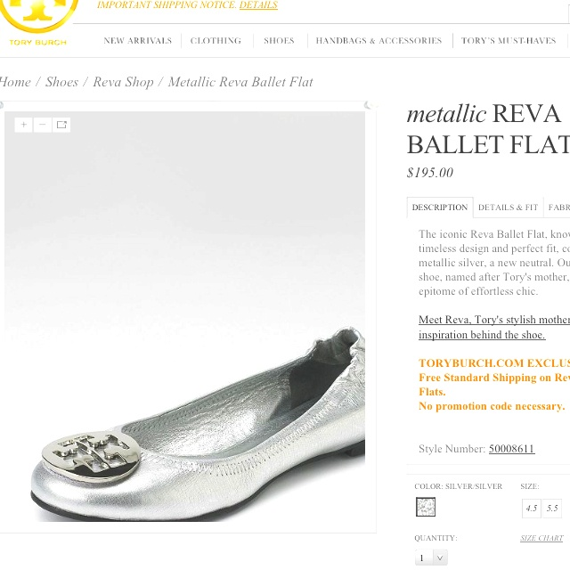 Pretty Tory Burch flats.