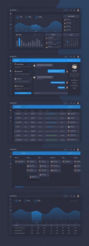 Virtus Dashboard Template PSD