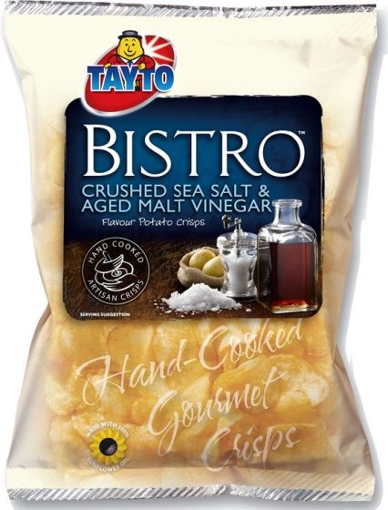 Food Ireland Tayto Bistro Salt & Vinegar 50g (1.8oz) 5 Pack