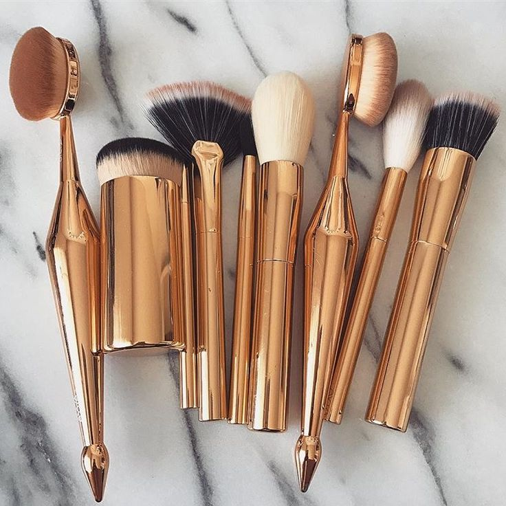 Golden Brushes might look awesome in your bathroom. Don't know if they are good or not ;)