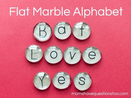 Flat Marble Alphabet Tutorial- I want to try to put a magnet on the back for fridge magnets---try with other things than letters too