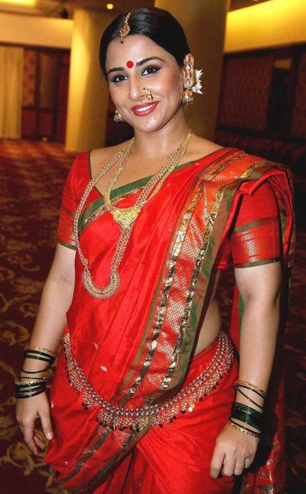 vidhya balan in orange saree